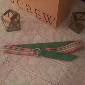 Preppy pink and green ribbon belt